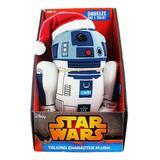 Underground Toys Figurines - Star Wars White Santa R2-D2 Talking Sound-Effect Plush Toy