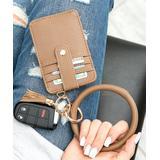 Aili's Corner Women's Key Chains Camel - Camel Key Ring & Wallet Bracelet