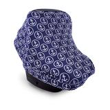 Luvable Friends Car Seat Canopies ANCHORS - Navy & White Anchor Car Seat Canopy