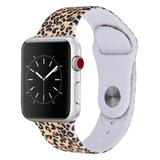Prime Bands Replacement Bands - Leopard Silicone Sport Band Replacement for Apple Watch