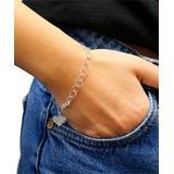 Yeidid International Women's Bracelets - Sterling Silver Heart Charm Bracelet