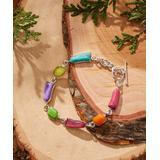 Urban Silver Women's Bracelets SILVER - Jeweltone & Sterling Silver Mixed Bead Station Bracelet