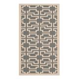 Martha Stewart Indoor Rugs Anthracite - Anthracite & Beige Greek Key Indoor/Outdoor Rug