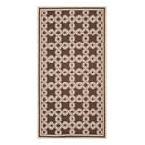 Martha Stewart Indoor Rugs Chocolate - Chocolate & Cream Lattice Indoor/Outdoor Rug