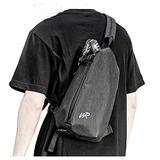 Small Backpack Shoulder Sling Bag for Men Women Crossbody Backpack,Anti-theft Slim Nylon Crossbody Bag for Men Waterproof,Single Strap Backpack Chest Pack Outdoor Hiking Travel,Gray
