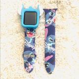 Disney Accessories   38mm Disney Stitch Apple Watch Bandbumper Combo   Color: Blue   Size: 38mm Ml