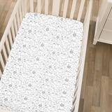 Carter's® Safari Animals Fitted Crib Sheet Polyester in Black, Size 28.0 W x 5.0 D in | Wayfair 6715003P