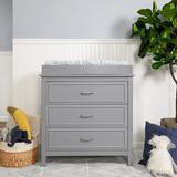 DaVinci Charlie 3 Drawer Dresser Wood in Gray, Size 33.87 H x 35.0 W x 19.87 D in | Wayfair M12823G