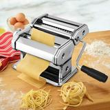 Homdox Manual Pasta Maker Stainless Steel in Gray, Size 7.8 H x 5.1 W x 4.7 D in   Wayfair US01+AMB005364_1