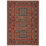 Solo Rugs Vince Oriental Area Rug Nylon/Wool in Red, Size 96.0 H x 60.0 W x 0.31 D in   Wayfair W0014-5x8-S153002C6Z