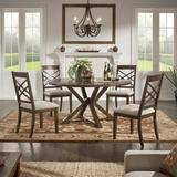 Kingstown Home Windfield 5 Piece Drop Leaf Dining SetWood/Upholstered Chairs in Brown | Wayfair 631ES-60[5PC]