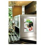 Durable Office Products Corp. Duraframe Sign Holder Plastic in Gray, Size 18.0 H x 12.0 W x 0.13 D in | Wayfair 476923