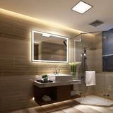 Orren Ellis Clybourn Lighted Bathroom/Vanity Mirror in White, Size 36.0 H x 48.0 W x 1.75 D in | Wayfair 27ACBD6493D54E52836A9017B5C82FC8