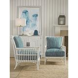 """Tommy Bahama Home Newcastle 27.5"""" Wide Down Cushion Armchair Rattan/Wicker/Other Performance Fabrics in Blue/Brown/White 