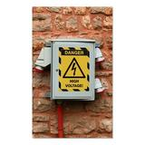 Durable Office Products Corp. Duraframe Security Magnetic Sign Holder Plastic in Black/Yellow, Size 12.0 H x 9.5 W x 0.031 D in   Wayfair 4772130