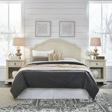 Birch Lane™ Mclin Headboard & 2 Nightstands Wood in Brown/White, Size Queen   Wayfair 7DAC1A7385594F9EAD955EC4F0C05062