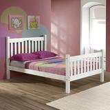 Sand & Stable™ Baby & Kids Barbara Platform Bed Wood in Red/White, Size 58.0 W x 80.0 D in | Wayfair 42B76CEA81954A7DB161D9EAECF183C3