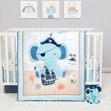 Isabelle & Max™ Beikirch 4 Piece Crib Bedding Set Polyester in Brown/White, Size 45.0 W in | Wayfair A040BC5542894C38855F6C269CF93C1A