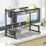 BKB365 Over Sink Stainless Steel Dish Rack Stainless Steel in Gray, Size 20.5 H x 12.6 W x 33.5 D in | Wayfair XEL-WZYY02