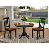 Alcott Hill® Maffra Rubberwood Solid Wood Dining Set Wood in White, Size 29.5 H x 42.0 W x 42.0 D in | Wayfair F33B36C7BECE44CA9F632F85AABF3187