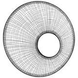 "Cyan Design 10519 Web Noir 24-1/4"" Circular Flat Iron Framed Accent Mirror Graphite"