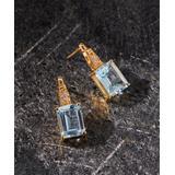 YS Gems Women's Earrings Blue - Blue & White Topaz Drop Earrings