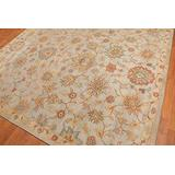 Old Hand Made Allen Floral Traditional Persian Oriental Woolen Area Rugs (8'x10')