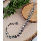 Ottoman Silver Collection Women's Bracelets - Corundum & Sterling Silver Hammered Heart Bracelet
