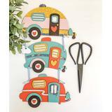 ADORNit Craft Kits - Triple Happy Camper Wood Craft Kit
