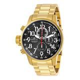 Invicta Men's Watches Gold - Goldtone & Black I-Force Chronograph Bracelet Watch