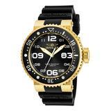 Invicta Men's Watches - 14k Gold-Plated & Black Pro Diver Quartz 3-Hand Dial Watch