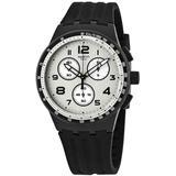 Nocloud Chronograph Quartz Silver Dial Watch - Metallic - Swatch Watches