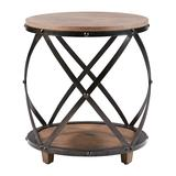 Main Street Console Tables Antique - Antique Bronze Wood & Metal Side Table