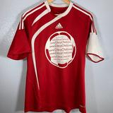 Adidas Shirts | Adidas Soccer Jersey Red Concy Chiro | Color: Red/White | Size: M