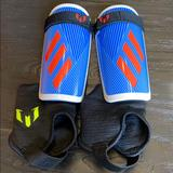 Adidas Other   Adidas Youth Soccer Shin Guards   Color: Blue/Red   Size: Unisex Youth Medium