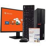 "Lenovo M900 PC Desktop Computer - Intel i5, 16GB RAM, 1TB HDD, Windows 10 Pro, Microsoft Office 365 Personal, New 23.6"" FHD V7 LED Monitor, Wireless Keyboard & Mouse, New 16GB Flash Drive (Renewed)"