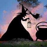 Witch With Lantern Silhouette - Grandin Road
