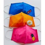 Nanu Masks Fabric Face Masks Pink - Pineapple Assorted 3-Piece Non-Medical Face Mask Set