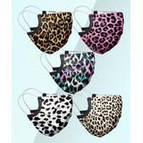 Nanu Masks Fabric Face Masks Black - Pink & Black Leopard Assorted 5-Piece Non-Medical Face Mask Set