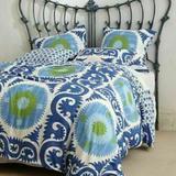 Anthropologie Bedding | Anthropologie Blue Yalova Set Of 2 Standard Shams | Color: Blue/Green | Size: Standard