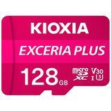 Kioxia 128GB microSD Exceria Plus Flash Memory Card w/SD Adapter SDXC UHS-I U3 4K Class10 V30 A1 R100MB/s W65MB/s LMPL1M128GG2