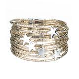 Don't AsK Women's Bracelets Gold - Two-Tone Star Layered Bracelet