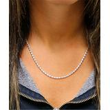 Yeidid International Women's Necklaces - Sterling Silver Diamond-Cut Popcorn Chain Necklace