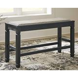 Signature Design by Ashley Tyler Creek Counter Height Dining Room Bench, Antique Black