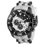 Invicta Men's Disney Limited Edition Stainless Steel Quartz Watch with Silicone Strap, White, Black, 26 (Model: 32478)