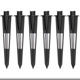 Malibu Landscape Lighting Stake 6 Pack Metal Outdoor Sturdy Solid Ground Spike Die-cast Aluminum for Flood Light Pathway Light's Stakes