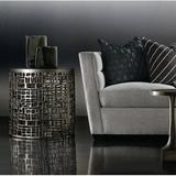Bernhardt Frame End Table Aluminum in Gray, Size 24.125 H x 23.75 W x 23.75 D in | Wayfair 379162