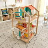 KidKraft Mansion Dollhouse Solid wood/Manufactured Wood in Brown, Size 43.3 H x 23.25 W x 26.8 D in   Wayfair 65199