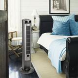 Lasko Oscillating Tower Fan in Gray, Size 42.5 H x 13.0 W x 13.0 D in   Wayfair T42951