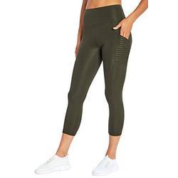 Bally Total Fitness Damen Dana High Rise Mid Calf Pocket Leggings, Damen, Caprihose, Dana High Rise Mid-Calf Pocket Legging, Hemlock Grün, Small